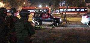 Adherentes del Rechazo realizaron caravana vehicular desde Las Condes hasta el Estadio Nacional