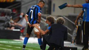Inter de Milán comunicó el diagnostico previo de la lesión de Alexis