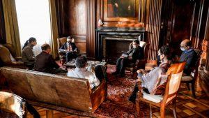 """""""Buen tono y clima de diálogo"""": Ministro Briones sostuvo reunión con la CUT para discutir sobre sueldo mínimo y desempleo"""