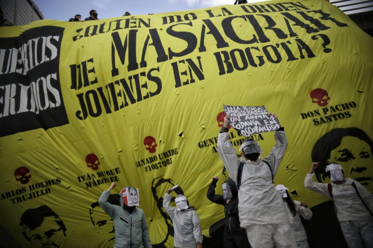 Manifestaciones en contra de la violencia policial en Bogotá