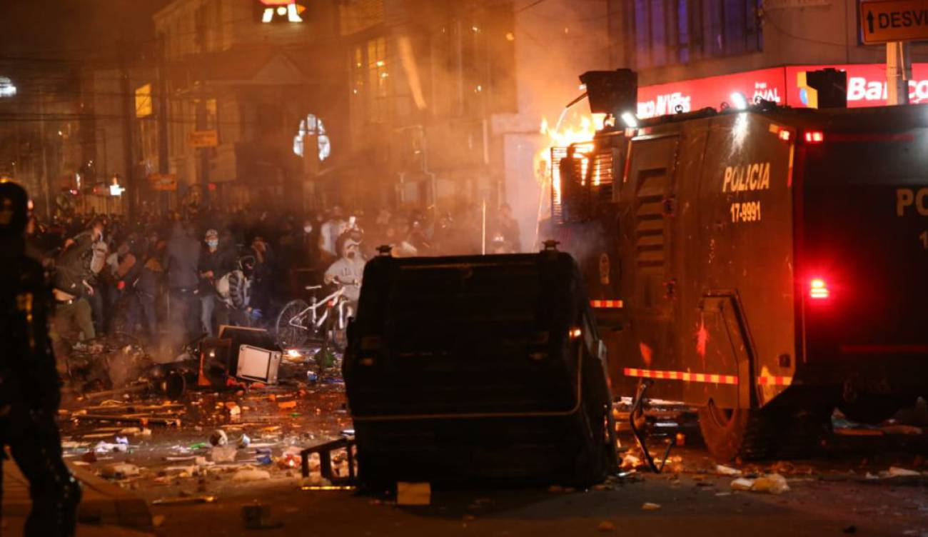 Protestas en Bogotá por la muerte de una persona a manos de la policía