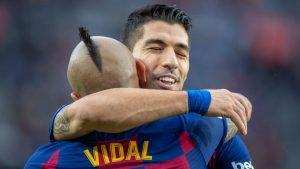 """Luis Suárez también despidió a Arturo Vidal: """"Un placer haber compartido con un crack de jugador como sos"""""""