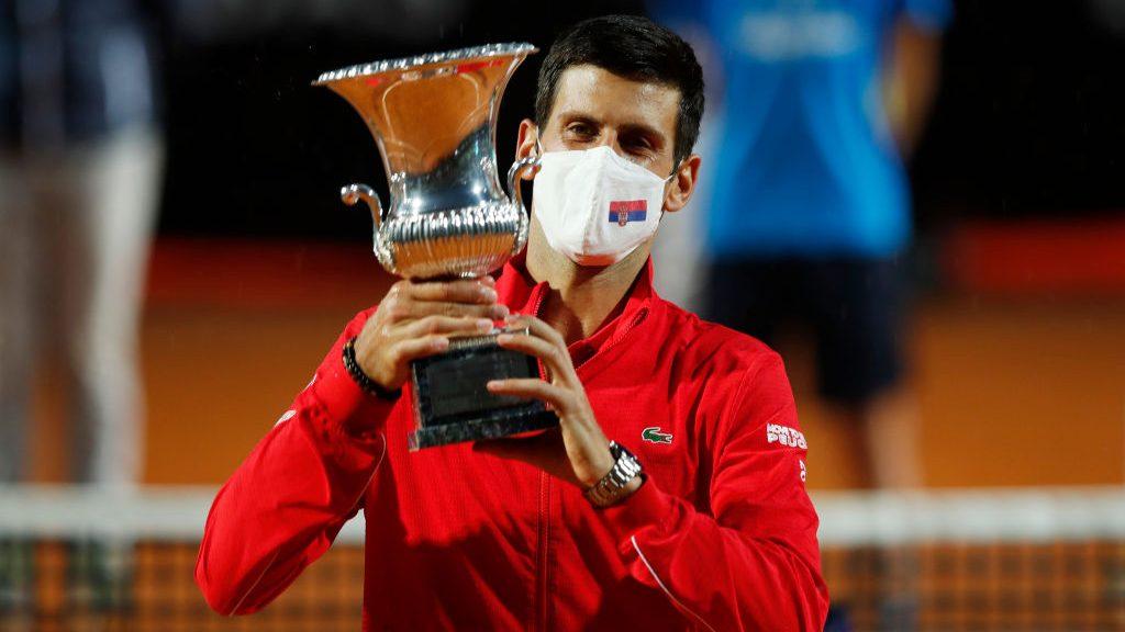 Djokovic se coronó campeón por quinta vez del Masters 1000 de Roma tras vencer al argentino Diego Schwartzman