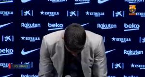 """Luis Suárez no aguantó el llanto en su despedida del FC Barcelona: """"Es muy difícil para mí"""""""