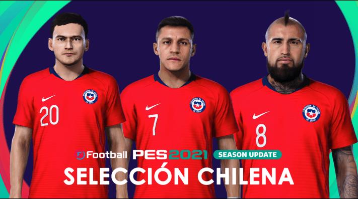 Ya está disponible: Así luce la Selección Chilena de Fútbol en el nuevo PES 2021