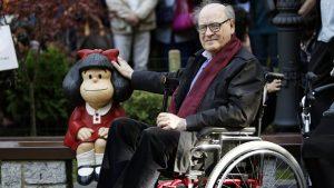 A los 88 años murió el dibujante argentino Quino, autor de Mafalda