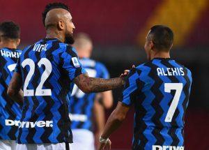 Arturo Vidal y Alexis Sánchez fueron los peores evaluados del Inter tras la igualdad por Champions ante el Borussia Mönchengladbach