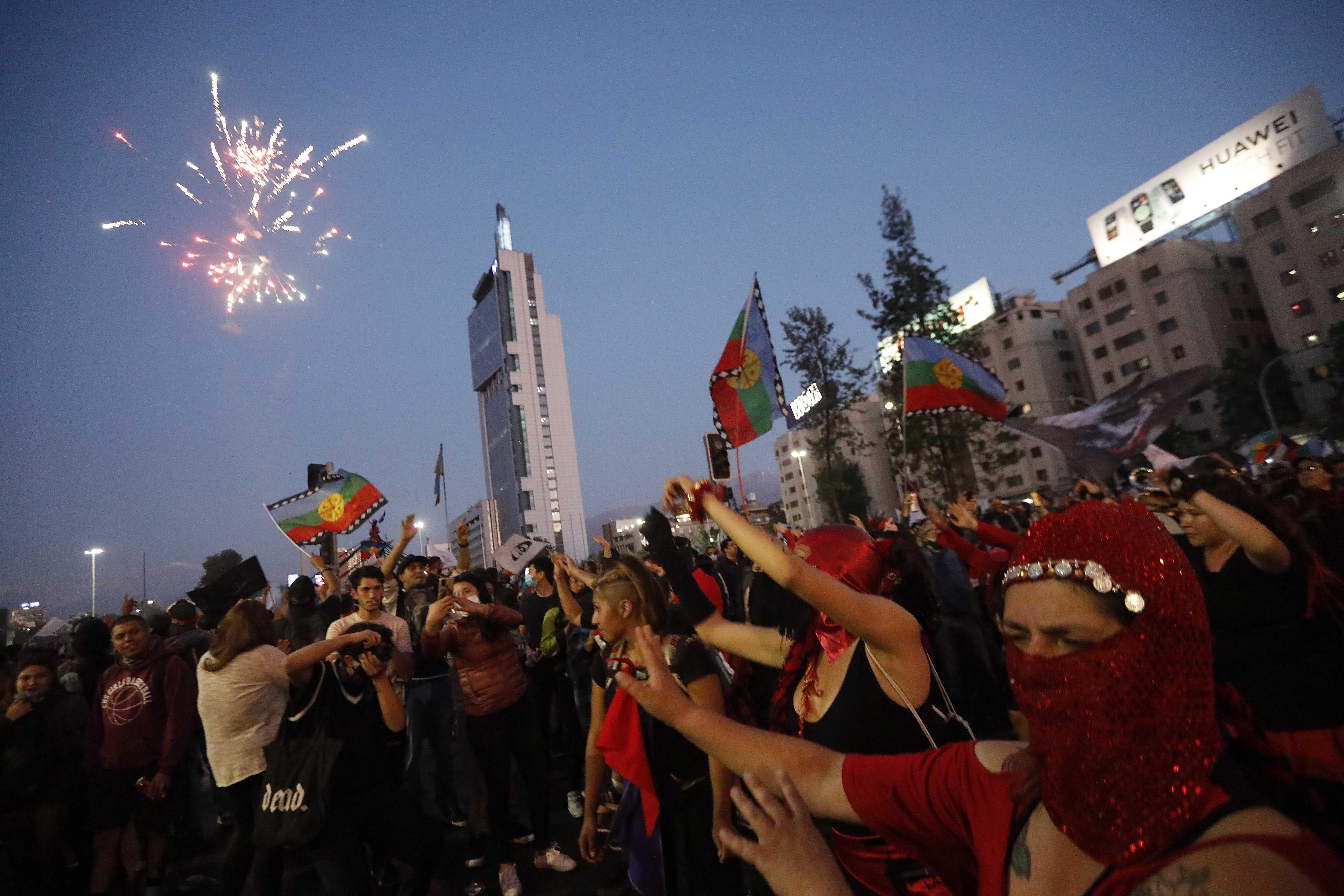 Manifestación en Plaza Baquedano
