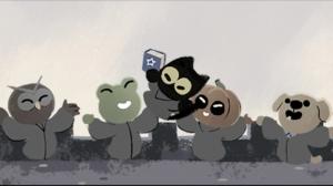 Doodle: Google celebra Halloween con juego protagonizado por la Academia del Gato Mágico