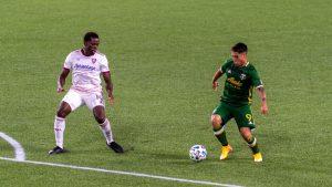 Las hace todas: Felipe Mora dio una asistencia en el empate del Portland Timbers en la MLS