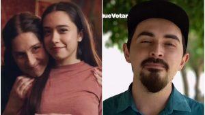 Una joven que vota por primera vez por el Apruebo y un youtuber por el Rechazo: Así fue la franja del mediodía de este martes