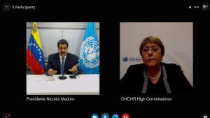 Maduro y Bachelet sostuvieron reunión telemática tras informe de la ONU sobre los DD.HH. en Venezuela