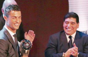 Cristiano Ronaldo saludó al cumpleañero Maradona: Eres el número uno, pero después del Bicho