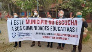Apoderados y profesores de colegios de Pirque rechazaron el retorno a las clases presenciales en cinco colegios de la comuna
