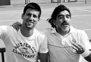 """Novak Djokovic y su sentida despedida a Diego Maradona: """"Descansa en el paraíso, leyenda"""""""