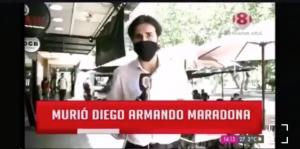 """""""Qué puntería"""": Despacho en vivo de notero argentino sobre la muerte de Maradona se convirtió en viral"""