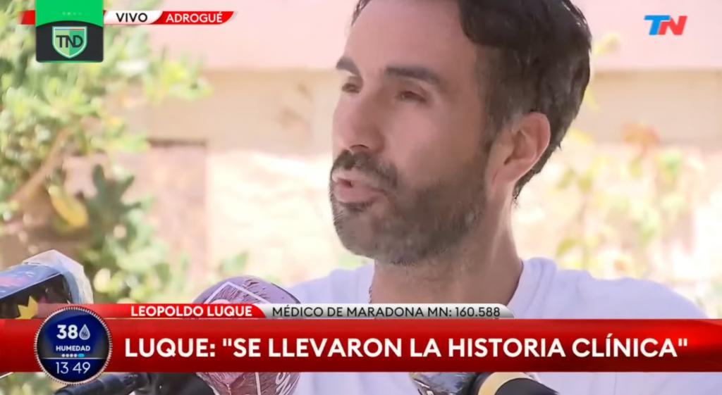 """Leopoldo Luque, médico de Maradona al momento de su muerte: """"Diego odiaba a todo el mundo en cuanto a la salud"""""""