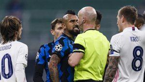 El furioso posteo de Arturo Vidal tras su expulsión en derrota del Inter de Milán