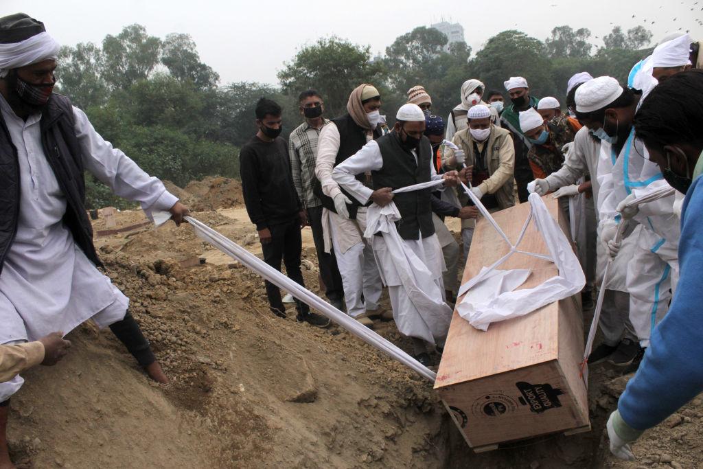 El funeral de una víctima del Covid-19 en Nueva Delhi