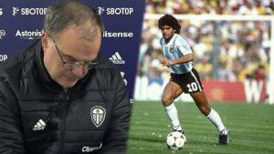 Se filtró audio de Marcelo Bielsa emocionado por homenaje de Lionel Messi a Maradona