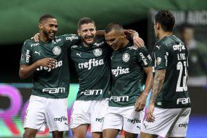 Palmeiras apabulló al Delfín de Ecuador en los octavos de final de la Copa Libertadores