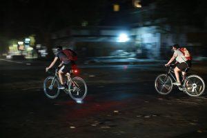 Carabineros dispuso cortes de tránsito en las cercanías de la casa del Presidente Piñera por convocatoria de ciclistas