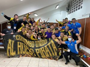 El desatado festejo del plantel de Coquimbo Unido tras acceder históricamente a 4tos de final de Copa Sudamericana