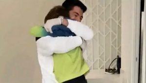 El emotivo reencuentro de Luis Suárez con sus hijos tras superar el Covid-19