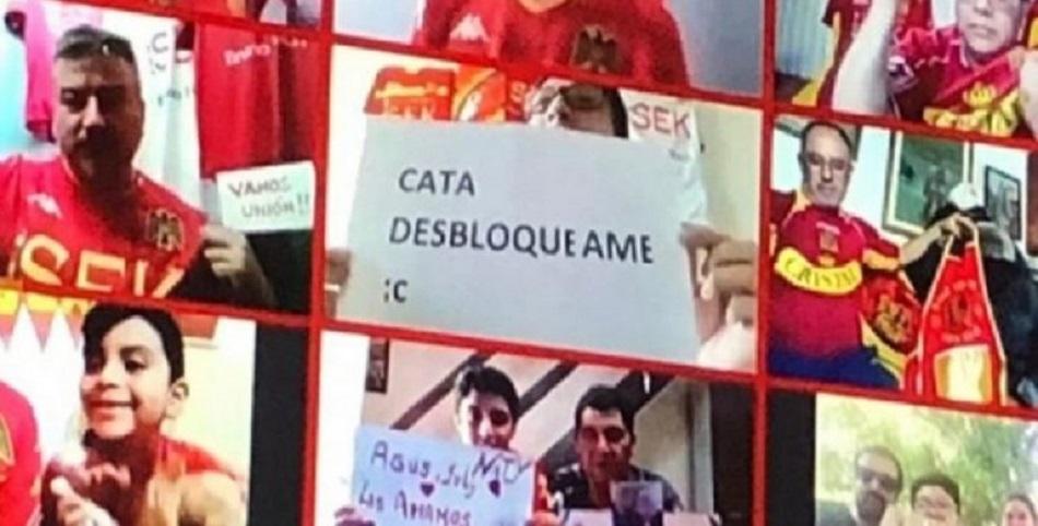 """""""Cata desbloquéame"""": Revelan la particular razón por la que hincha fue bloqueado por su polola de todos lados"""