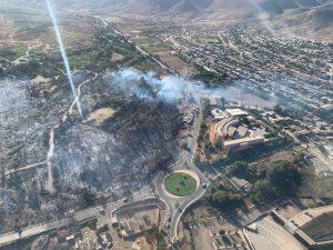"""Tras voraz incendio que se registró en Monte Patria, Aguas del Valle anunció un """"corte solidario"""""""