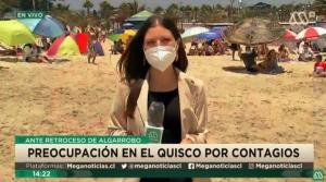 """""""Cara pálida"""" en la playa: Chascarro en vivo hizo reír durante noticiero"""