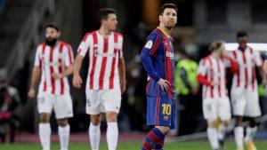 Barcelona dejó que se lo dieran vuelta y perdió la Supercopa de España ante Athletic de Bilbao