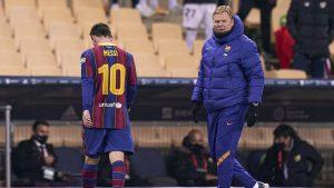 Por primera vez como culé: Lionel Messi agredió a un rival y fue expulsado en la final de la Supercopa de España