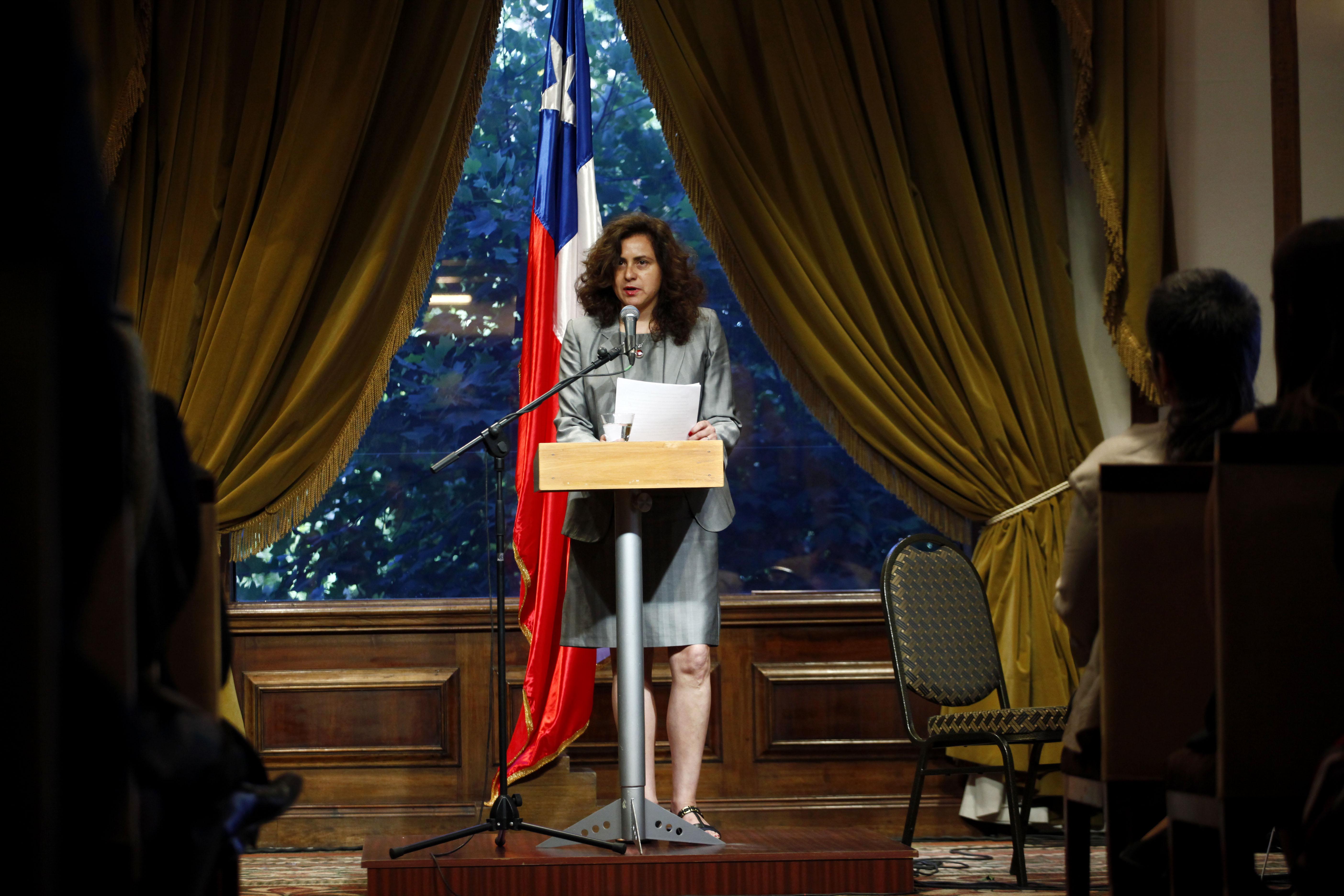 Acto de reconocimiento en el Ministerio de Relaciones Exteriores el 14 de diciembre de 2012