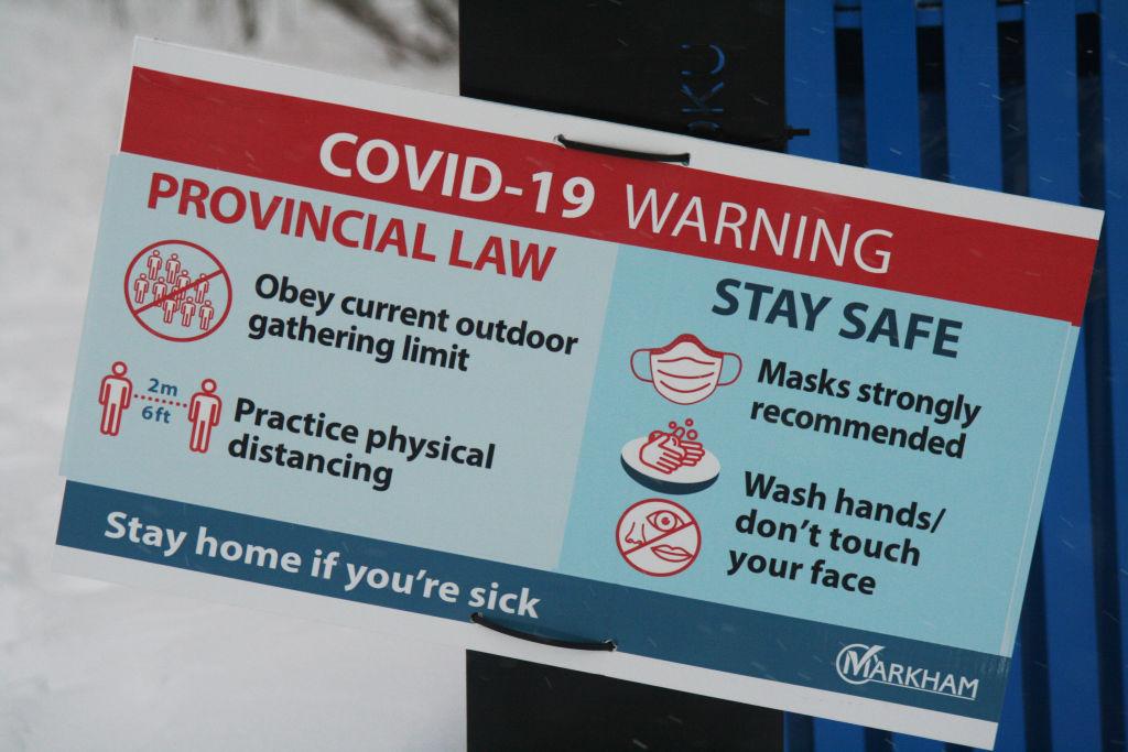 Aviso recuerda medidas contra el Covid-19 en Canadá