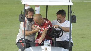 La escalofriante lesión que sufrió Javier Pinola, compañero de Paulo Díaz, en River Plate