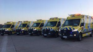 Histórica inversión de más de $850 millones: SAMU Metropolitano renovó flota con diez modernas ambulancias