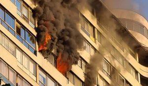 Incendio en emblemático edificio de Providencia terminó con una persona fallecida