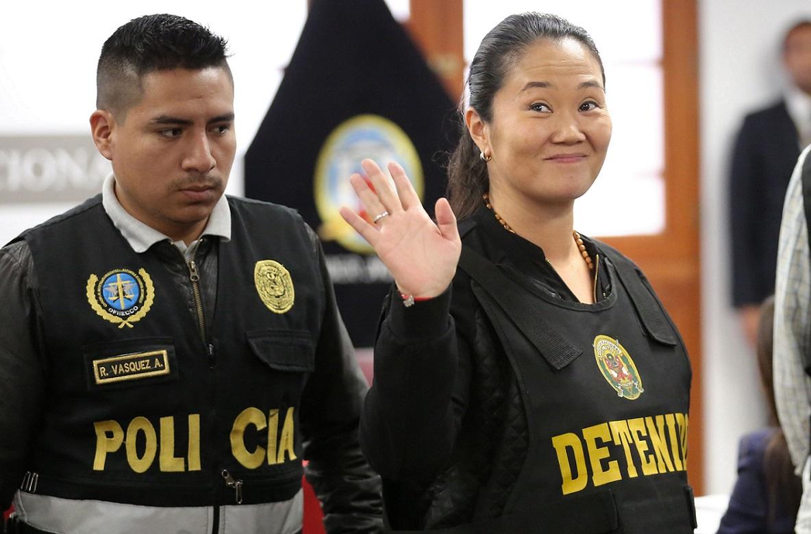 Keiko Fujimori durante uno de los juicios en su contra