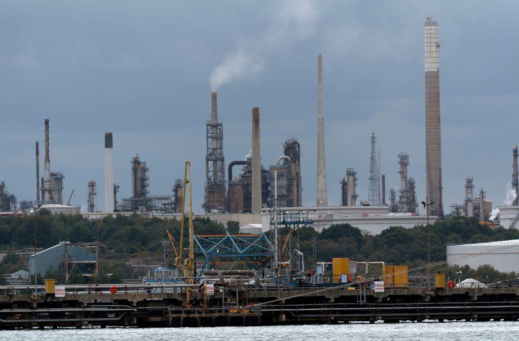 Una refinería de petróleo en Southampton