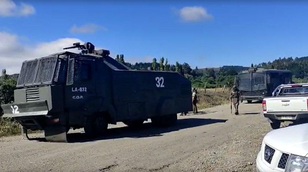 La Araucanía: carabinero recibió impacto balístico en el tórax en fundo en Lautaro