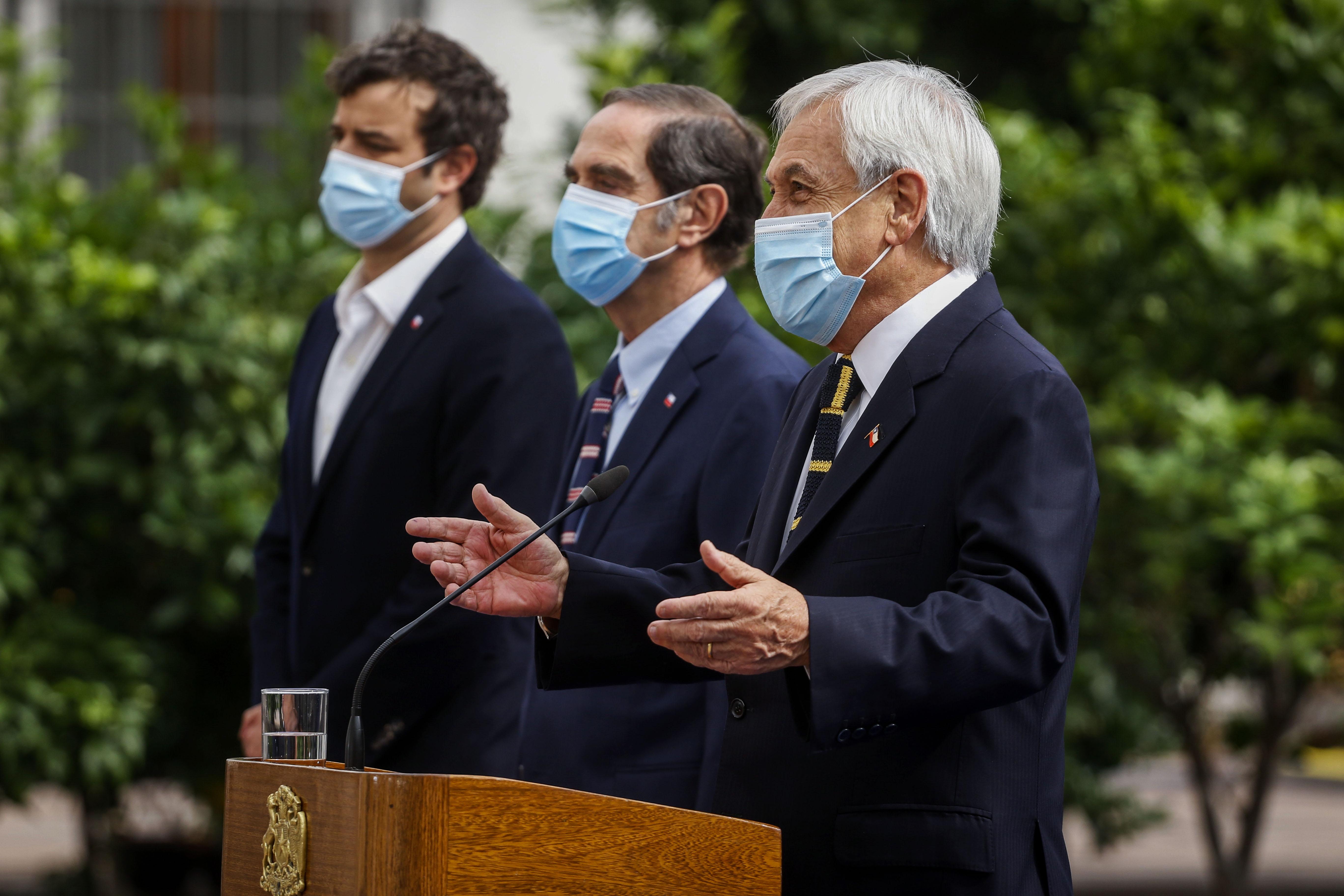 Presidente Piñera durante la presentación de la reforma al Código Procesal Civil