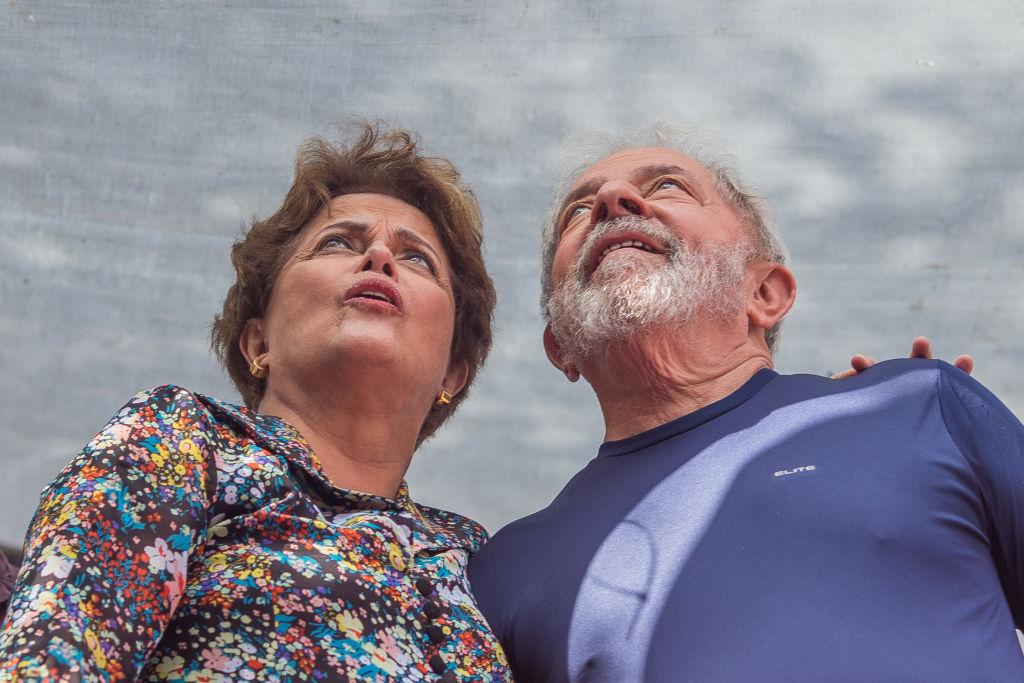 Lula junto a Dilma en un acto en Sao Bernardo do Campo