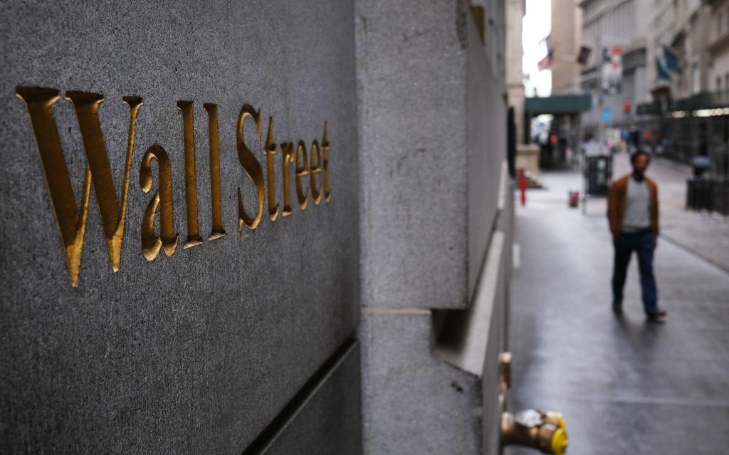La calle Wall Street en la ciudad de Nueva York