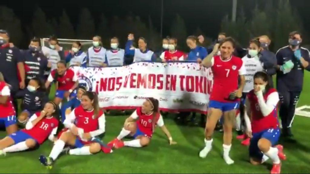Así celebró la Selección Chilena Femenina su histórica clasificación a los Juegos Olímpicos de Tokio 2021