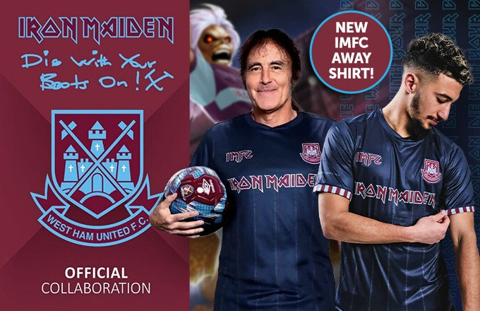 Iron Maiden y el West Ham United se vuelven a unir para lanzar colección de ropa deportiva