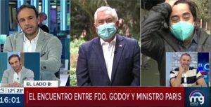 """""""Me imita muy bien"""": Fernando Godoy y ministro Paris tuvieron divertido encuentro en las elecciones"""