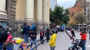 Largas filas de feligreses se registraron en la Iglesia de San Agustín por día del Cristo de Mayo