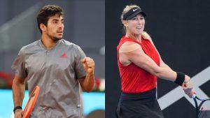 Cristian Garin y Alexa Guarachi ya tienen horario para su debut en el Masters 1000 de Roma