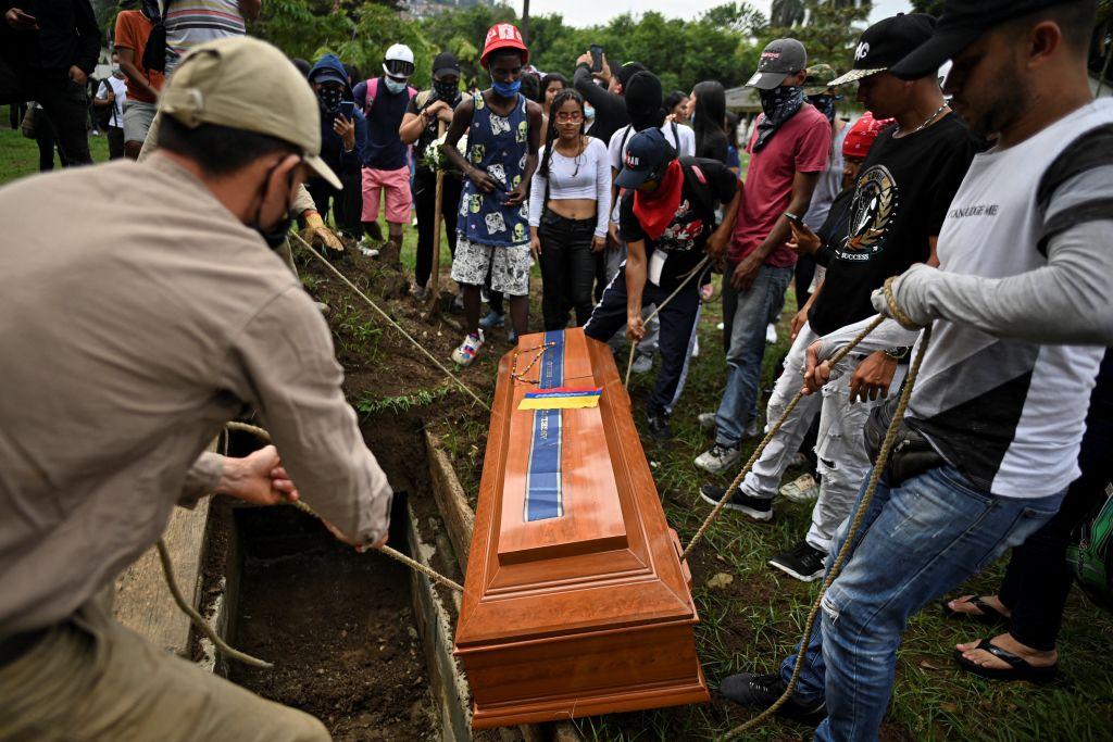 Funeral de Angelvis Bello quien falleció en las protestas en Cali